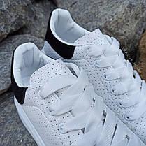 Кроссовки криперы ALEXANDER MCQUEEN |копия| белые размеры 36-41 на толстой подошве высокие кожаные перфорация, фото 3