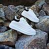 Кросівки кріпери ALEXANDER MCQUEEN |копія| білі розміри 36-41 на товстій підошві високі шкіряні перфорація, фото 5