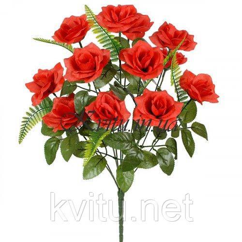 Искусственные цветы букет средних роз 12-ка, 53см