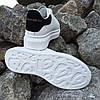 Кросівки кріпери ALEXANDER MCQUEEN |копія| білі розміри 36-41 на товстій підошві високі шкіряні перфорація, фото 4