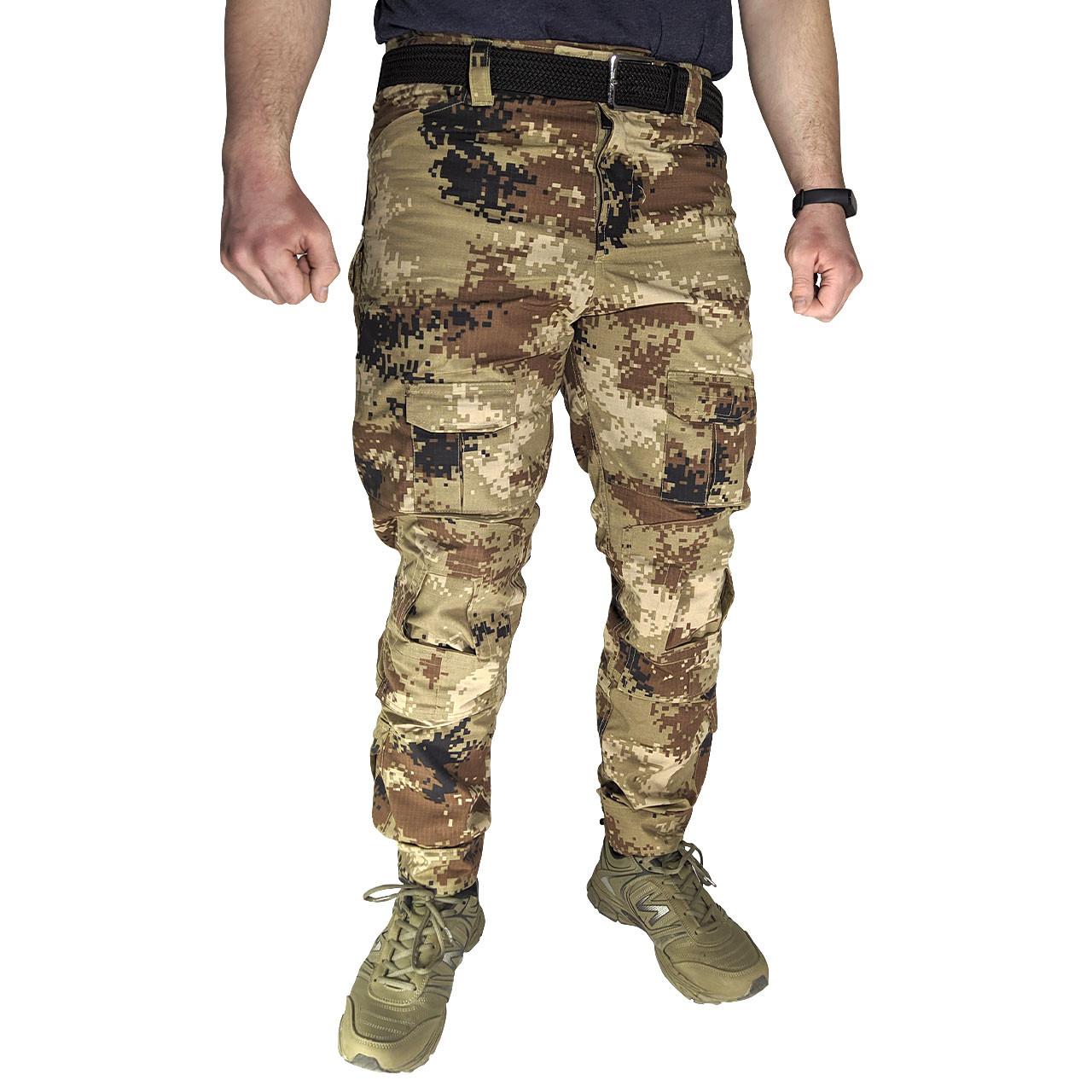 Тактические штаны Lesko B603 Pixel Desert 32 размер мужские брюки военные для силовых структур карманы пиксель