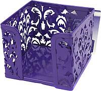 """Куб для паперу """"Buromax"""" 8х10х10см №6216-07 Barocco  метал.,фіолет.(1)(12)"""
