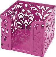 "Куб для паперу ""Buromax"" 80х10х10см №6216-10 Barocco метал.,рожев.(1)"