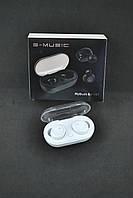 Беспроводные Bluetooth наушники S-Music MyBuds EJ101 (+кейс для зарядки и хранения) White