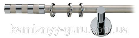 Карниз для штор ø 16мм, одинарный, наконечник Сигма