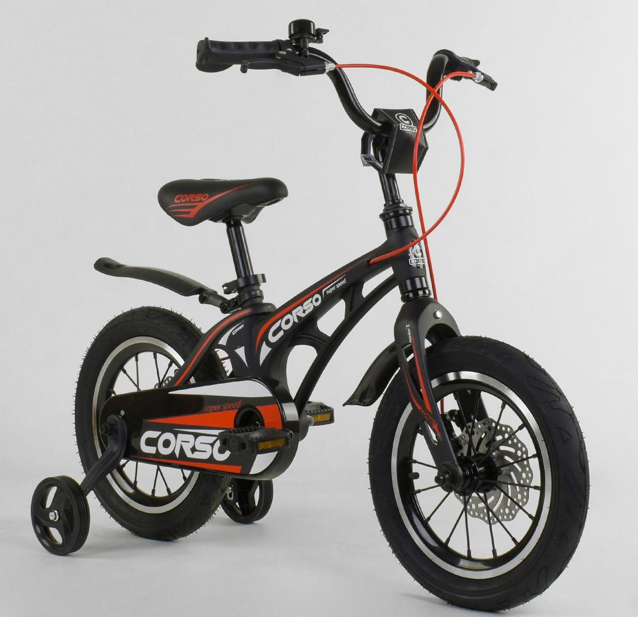 Дитячий 2-х колісний двоколісний велосипед 14 дюймів MG-14 S 325, магнієва рама, подвійні диски, ровер