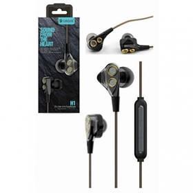 Наушники Celebrat H1 (микрофон, плоский шнур) Black