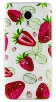 Чехол для Xiaomi Redmi 2 Silicone Diamond Cocktail-series Strawberry