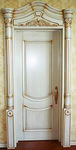 Двери межкомнатные деревянные, с массива ясеня, дуба, ольхи. Мод. 1232