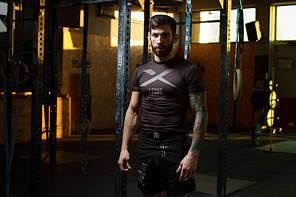 Рашгард с коротким рукавом Leone X-Shirt Black M, фото 2