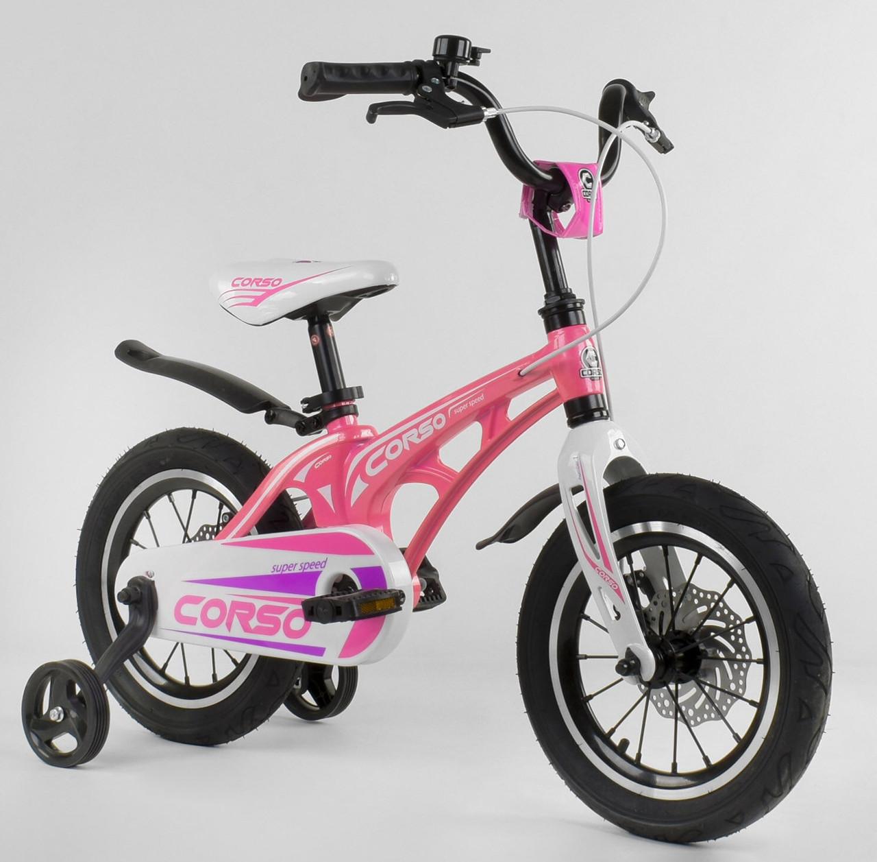 Детский 2-х колёсный двухколёсный велосипед 14 дюймов MG-14 S 706, магниевая рама, двойные диски, ровер