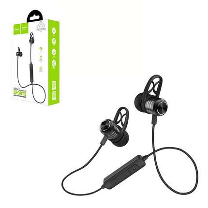 Беспроводные наушники Bluetooth-гарнитура Hoco ES14 Plus (Bluetooth 4.2,Magnetic) Black, фото 2