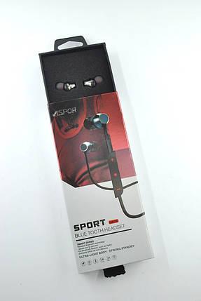 Бездротові навушники Bluetooth-гарнітура Aspor A609 (Bluetooth 4.1) Black, фото 2