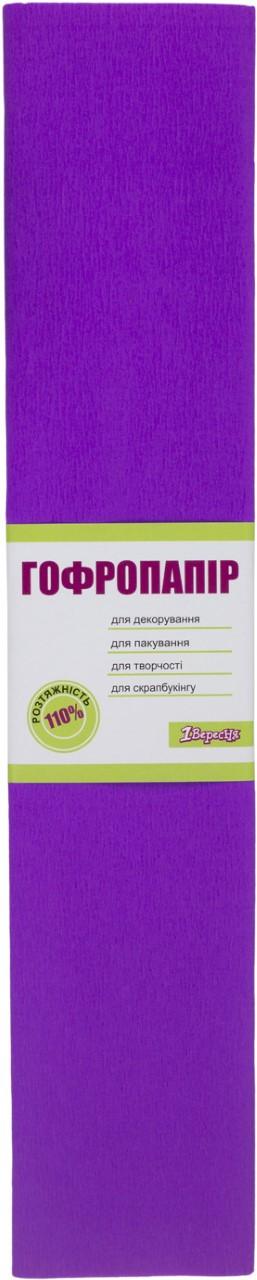 """Папір гофра №7 2м х50см 110% 35,7г/м2 """"1В"""" №701540 (фіолетовий)(10)(200)"""