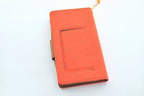 """Чехол-книжка 4you Canvas 4""""- 4,4"""" orange/brown универсальная , фото 2"""