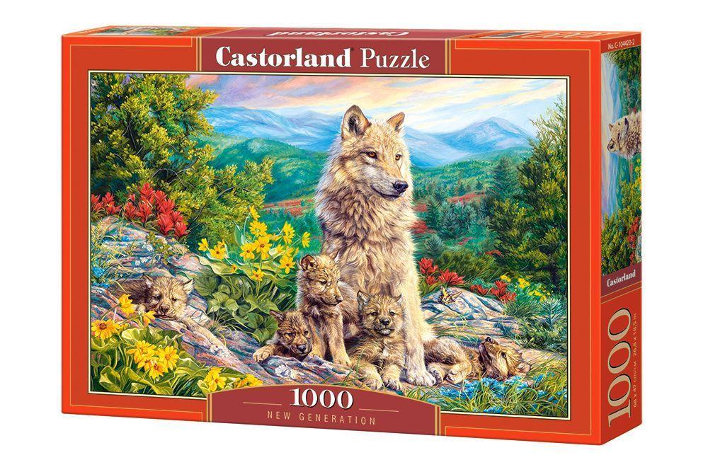 Пазлы Волк 1000 элементов Castorland
