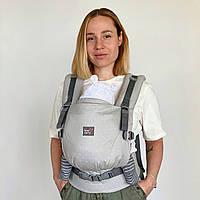 """Эрго рюкзак для новорожденных ONE + Organic """"Туман"""" Love & Carry Рюкзак для переноски детей, фото 1"""