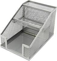 """Підставка-органайзер """"Axent"""" №2118-03 метал. 100х143х100мм срібна(4), фото 1"""