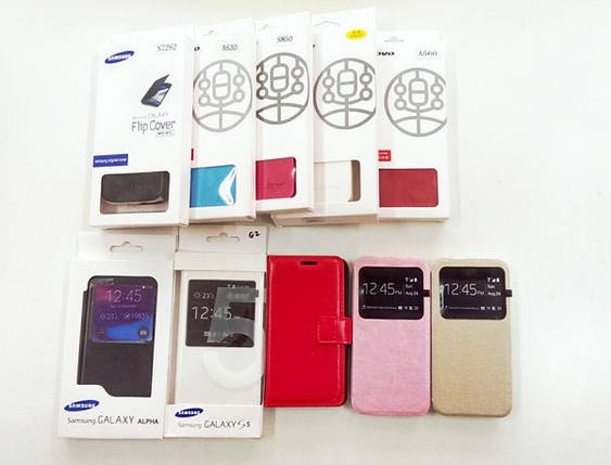 Чехол-книжка Flip Cover for Samsung J1/J100 White , фото 2