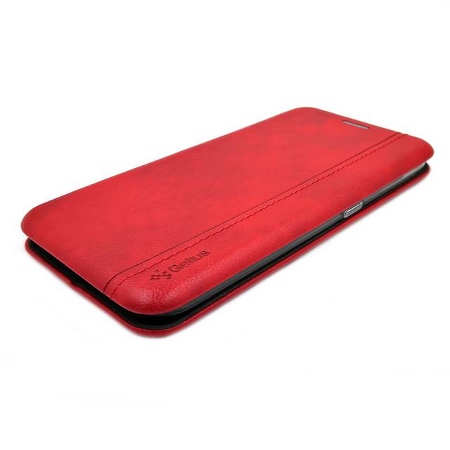 кожаный чехол на Samsung  a01 gelius красный