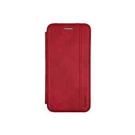 Чехол книжка для Samsung Galaxy A01 A015 боковой из натуральной кожи, Gelius, красный