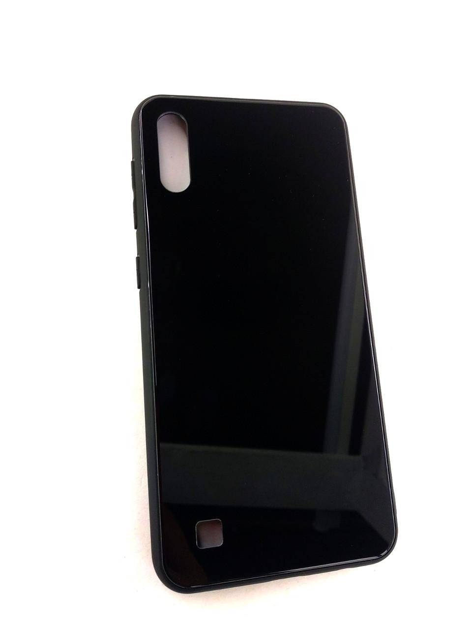 Чехол Xiaomi Mi 8 Lite Silicone Glass Gradient Status Case черный
