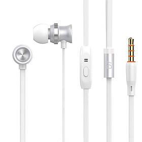 Наушники Celebrat D7 (микрофон, плоский шнур) White/silver