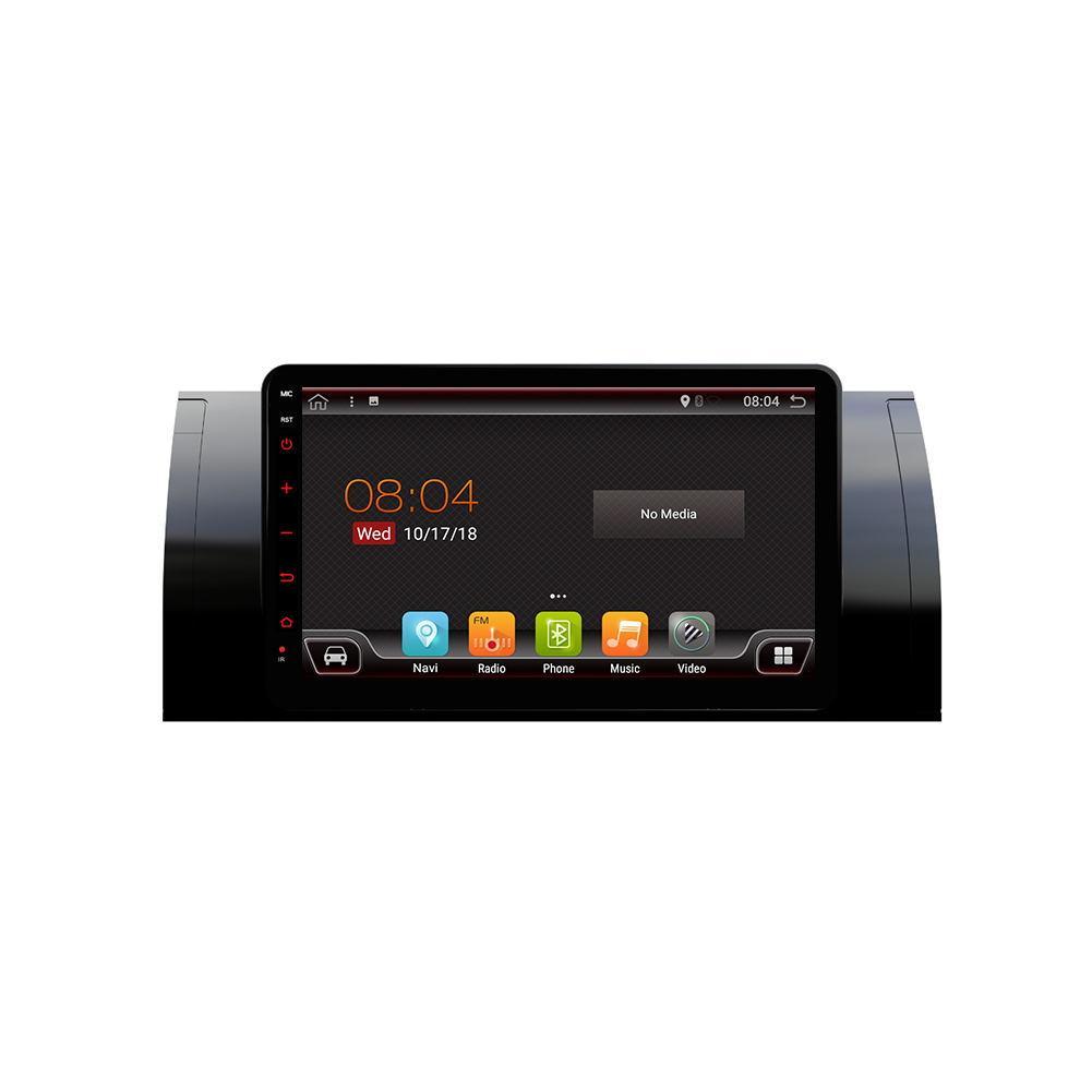 PX6 8.0 дюймов 2 DIN 4 + 64G для Android 9.0 Авто MP5-плеер 6-ядерный сенсорный экран Bluetooth Радио GPS Автоema Для BMW 5 (E39) 1995-2003 BMW X5