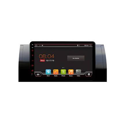 PX6 8.0 дюймов 2 DIN 4 + 64G для Android 9.0 Авто MP5-плеер 6-ядерный сенсорный экран Bluetooth Радио GPS Автоema Для BMW 5 (E39) 1995-2003 BMW X5, фото 2