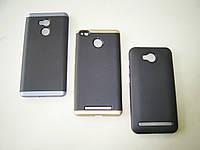 Чехол для Xiaomi Redmi 4 Prime Silicone iPaky с пластиковой рамкой black
