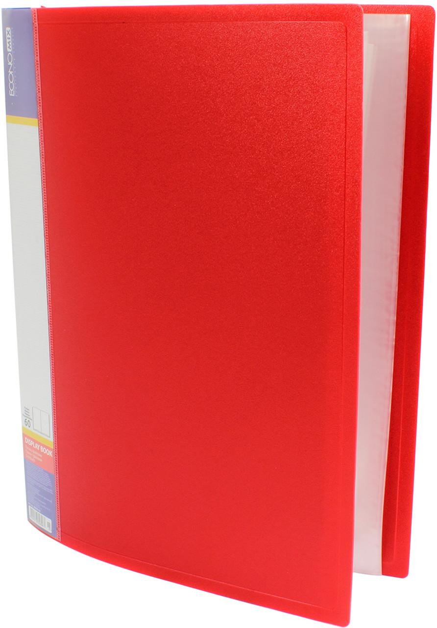 """Папка """"Economix"""" №E30606-03 A4 з 60ф. червона(6)"""