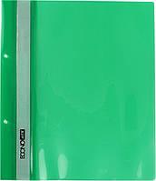 """Папка-швидкозш. """"Economix"""" №E31506-04 A5 з прозор.верхом,з перфор. зелена(10)(400), фото 1"""