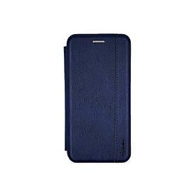Чехол книжка для Samsung Galaxy A01 A015 боковой из натуральной кожи, Gelius, синий