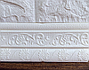 Рельефный пластиковый самоклеющийся Белый плинтус с узором (гибкий напольный настенный багет ПВХ) 240*8 см