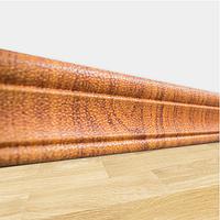 Мягкий самоклеющийся плинтус для 3Д панелей Золотой Дуб, пластиковые плинтусы настенные напольные ПВХ 240*8 см, фото 1
