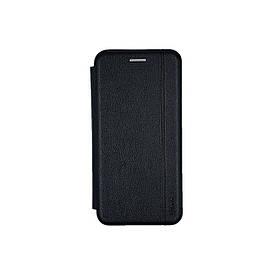 Чехол книжка для Samsung Galaxy A01 A015 боковой из натуральной кожи, Gelius, черный