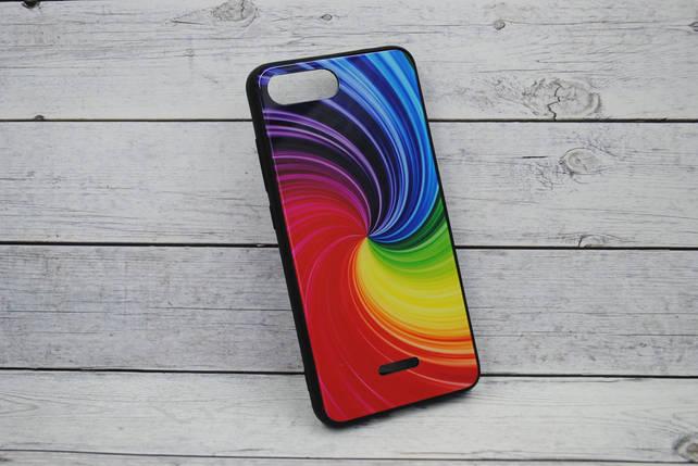 """Чехол Xiaomi Redmi 6 Silicone TPU + Glass """"Mix"""" №7, фото 2"""