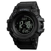 Skmei  1358  processor черные мужские часы  с шагомером и барометром, фото 1