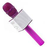 Беспроводной портативный микрофон Micgeek Q9 для караоке Bluetooth c чехлом Розовый (1354-9592а), фото 2