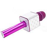 Беспроводной портативный микрофон Micgeek Q9 для караоке Bluetooth c чехлом Розовый (1354-9592а), фото 4