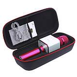 Беспроводной портативный микрофон Micgeek Q9 для караоке Bluetooth c чехлом Розовый (1354-9592а), фото 8
