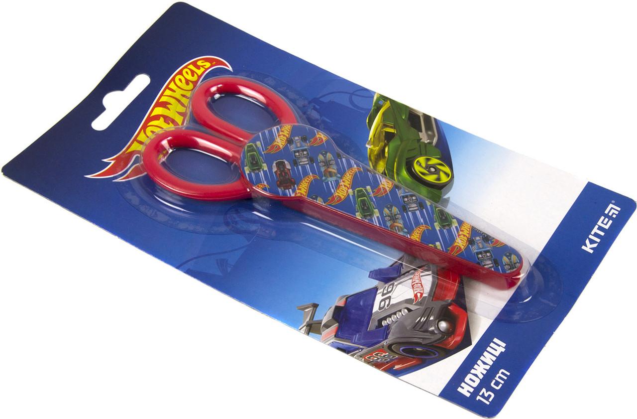 """Ножиці дит. """"Kite"""" №HW19-125 Hot Wheels 13см в футлярі(20)(200)"""