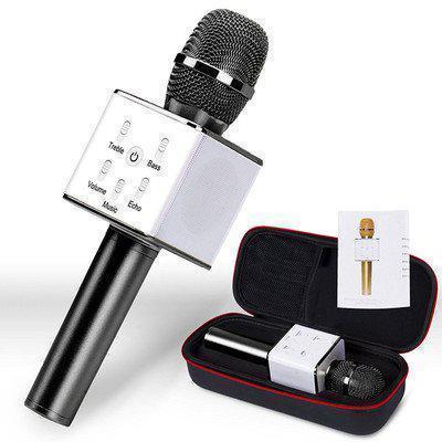 Микрофон bluetooth, USB Q7 с чехлом для переноски