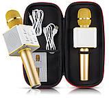 Микрофон bluetooth, USB Q7 с чехлом для переноски, фото 5