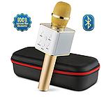 Микрофон bluetooth, USB Q7 с чехлом для переноски, фото 6