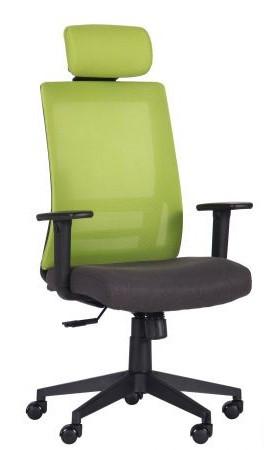 Кресло Scrum лайм/черный