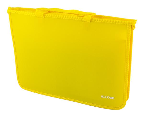"""Портфель """"Economix"""" №E31630-05 B4 пласт. 2від. на блиск. (жовтий)(1)(20)"""