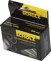 """Скріпки """"Scholz"""" №4755 28мм (100шт) прямі,кольорові(10)"""