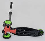 Самокат трехколесный детский со светящимися колесами черный Best Scooter Maxi 466-113/А24144, фото 4