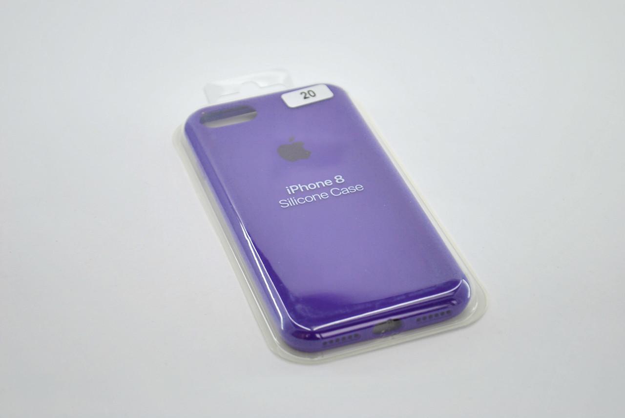 Чехол iPhone XS Max Silicone Case original FULL №20 ultra violet